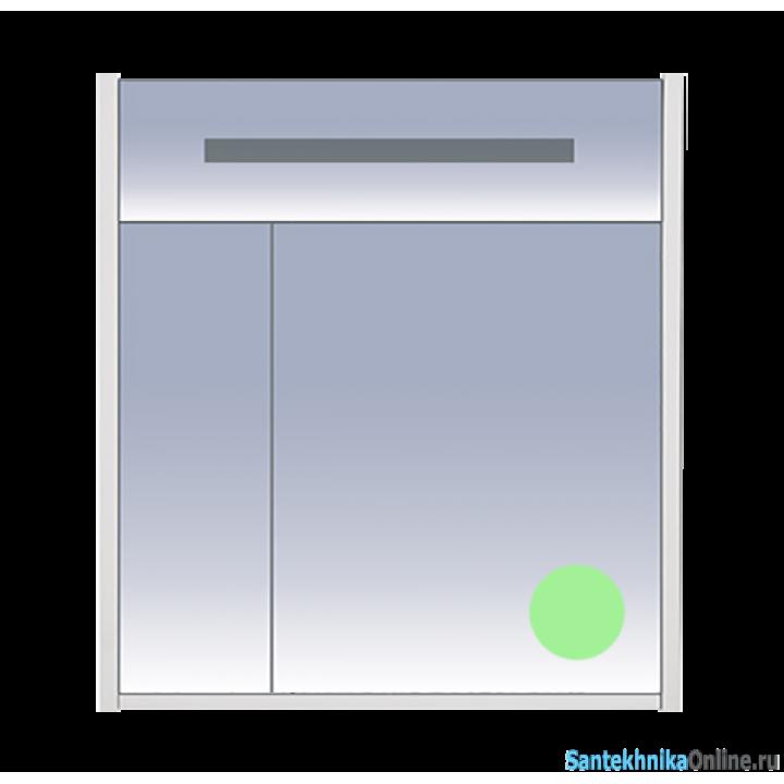 Зеркало-шкаф Misty Джулия 75 салатовый Л-Джу04075-0710