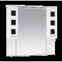 Зеркало-шкаф Misty Кармен -100 Зеркало-шкаф бел.плен/черн.стекло П-Крм04100-2315