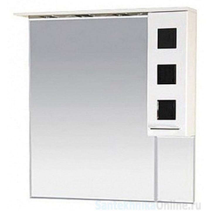 Зеркало-шкаф Misty Кармен 90 R черный П-Крм04090-2315П