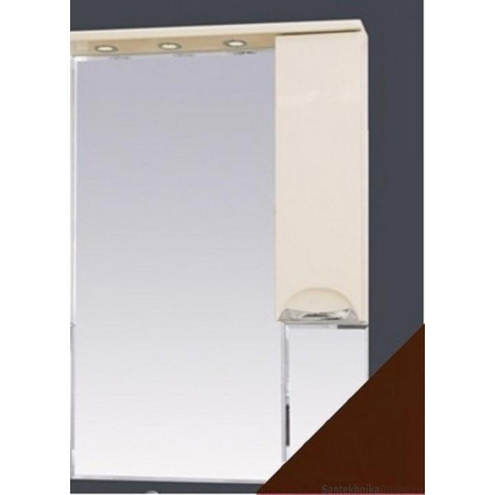 Зеркало-шкаф Misty Жасмин 65 R коричневый П-Жас02065-141СвП