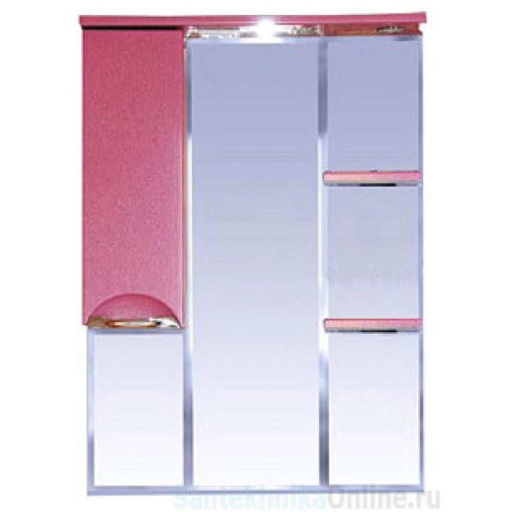 Зеркало-шкаф Misty Жасмин 75 L розовый П-Жас02075-122СвЛ