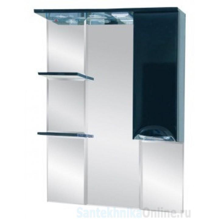 Зеркало-шкаф Misty Жасмин 75 R черный П-Жас02075-021СвП