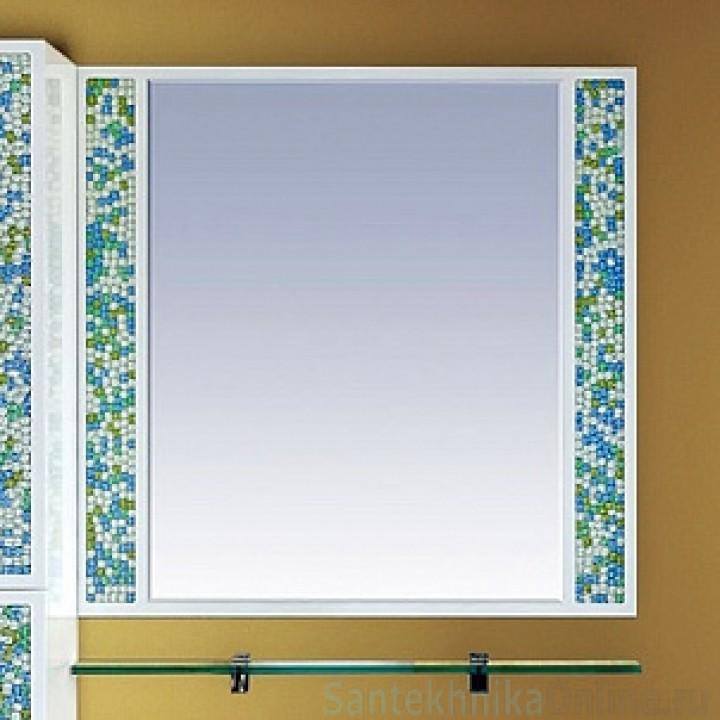 Зеркала Misty Жемчужина 75 белое/голубое П-Жем03075-328