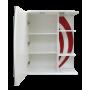 Зеркало-шкаф Misty Каролина 60 L красный П-Крл02060-265СвЛ