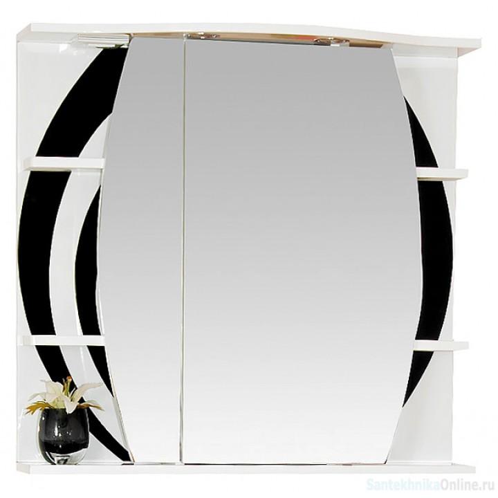 Зеркало-шкаф Misty Каролина 70 L черный П-Крл02070-235СвЛ