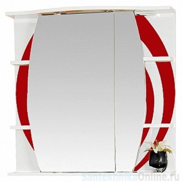 Зеркало-шкаф Misty Каролина 80 R красный П-Крл02080-265СвП