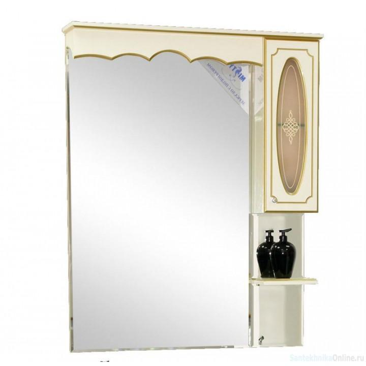 Зеркало-шкаф Misty Монако 80 R бежевый Л-Мнк02080-033П