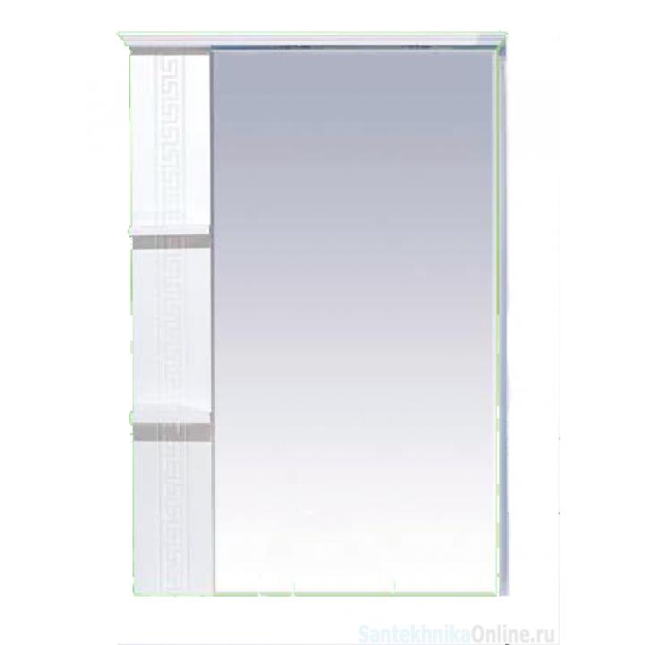 Зеркало-шкаф Misty Олимпия - 75 Зеркало белое фактурное левое П-Оли02075-012Л