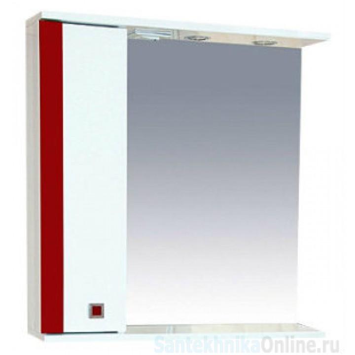 Зеркало-шкаф Misty Палермо 70 L красный П-Пал04070-261СвЛ
