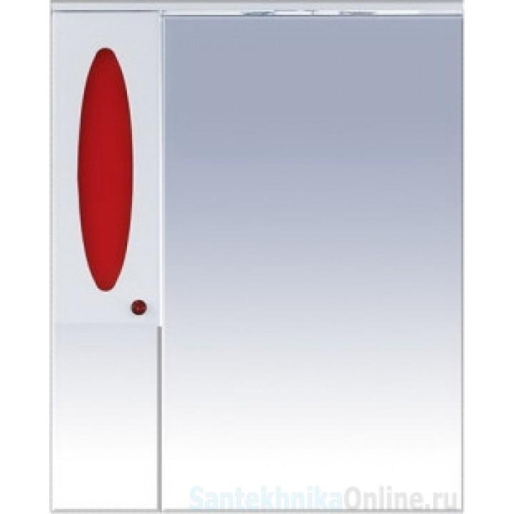 Зеркало-шкаф Misty Сидней 85 L красный П-Сид02085-265СвЛ