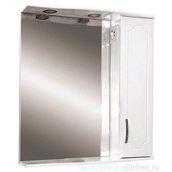 Зеркало-шкаф Misty Стиль 50 R белый Э-Сти02050-01СвП