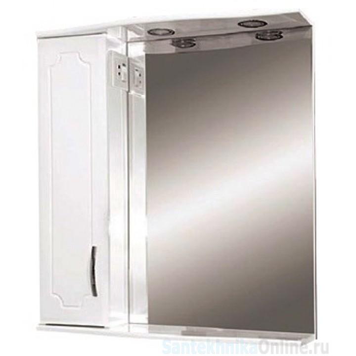 Зеркало-шкаф Misty Стиль 55 L белый Э-Сти02055-01СвЛ