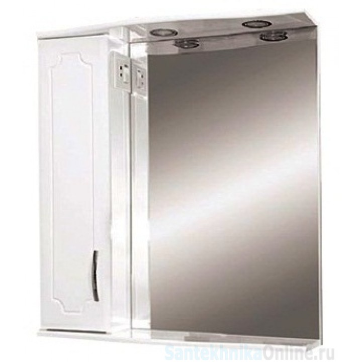 Зеркало-шкаф Misty Стиль 60 L белый Э-Сти02060-01СвЛ