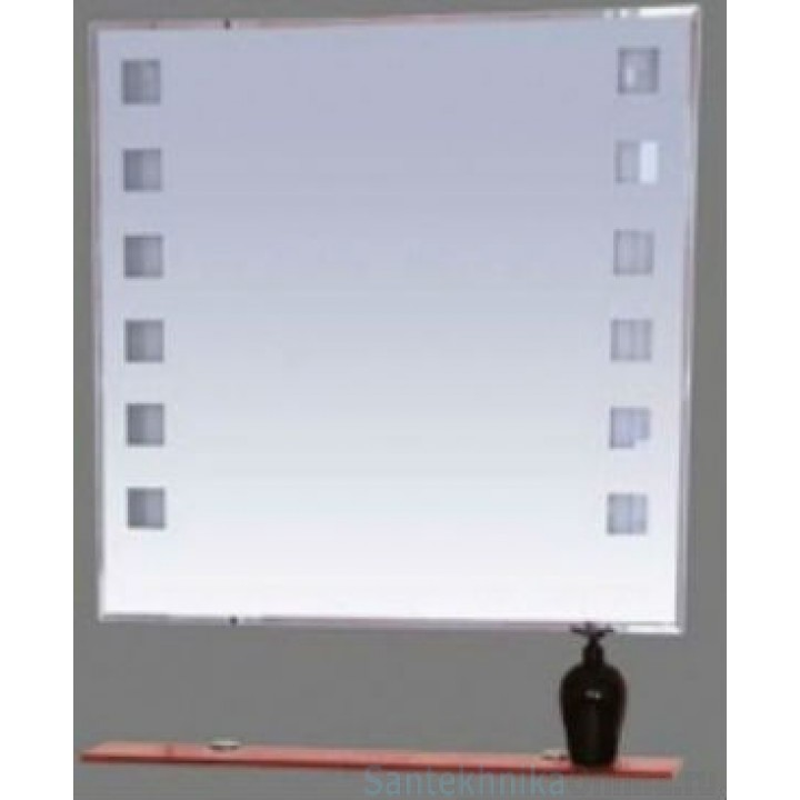 Зеркала Misty Эллада - 75 Зеркало с красной полочкой (свет) П-Элл03075-43Св