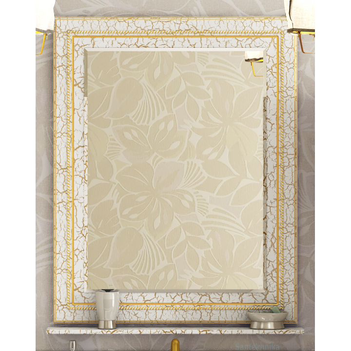 Зеркала Misty Fresko 75 краколет белый патина Л-Фре03075-0117