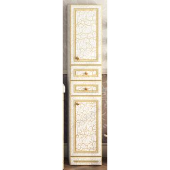 Шкаф-пенал Misty Fresko 35 R с 2-мя ящиками белый патина Л-Фре05035-01172ЯП