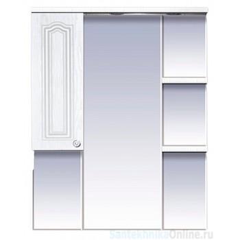 Зеркала Misty Валерия - 85 зеркало - шкаф белое фактур. левое со светом П-Влр02085-37СвЛ