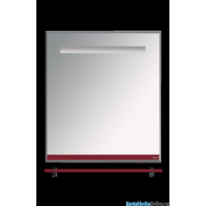 Зеркала Misty Джулия - 65 Зеркало с полочкой 12 мм бордовое Л-Джу03065-1010