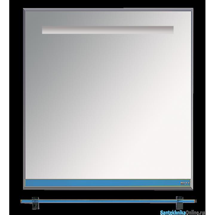Зеркала Misty Джулия - 75 Зеркало с полочкой 12 мм синий металлик Л-Джу03075-3610