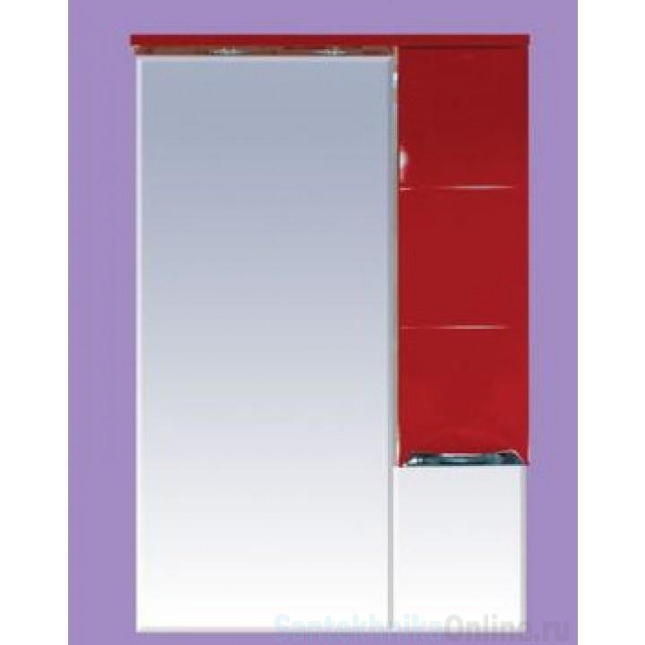 Зеркало-шкаф Misty Петра 65 R красный П-Пет04065-041СвП