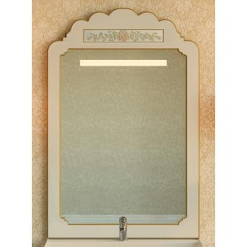 Зеркала Misty Milano 80 бежевое патина/декор Л-Мил02080-033