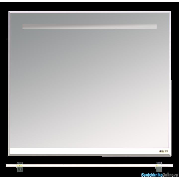 Зеркала Misty Джулия - 90 Зеркало с полочкой 8 мм белое White Л-Джу03090-5210