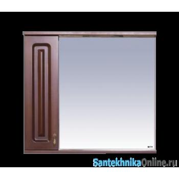 Зеркала Misty Вояж - 80 Зеркало - шк. лев.коричневый П-Воя02080-141Л