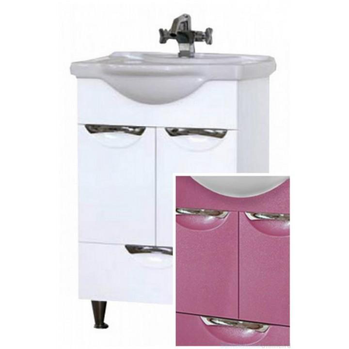 Тумба под раковину Misty Жасмин 55 розовая П-Жас01055-122Ня