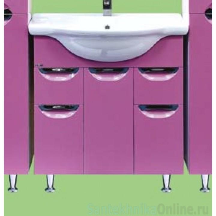 Тумба под раковину Misty Жасмин 75 розовая П-Жас01075-122