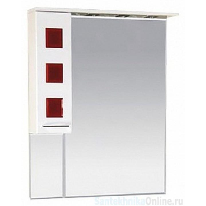Зеркало-шкаф Misty Кармен 80 L красный П-Крм04080-2615Л