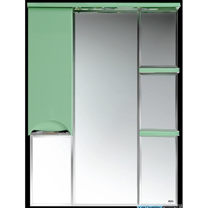 Зеркало-шкаф Misty Жасмин 85 L салатовый П-Жас02085-071СвЛ