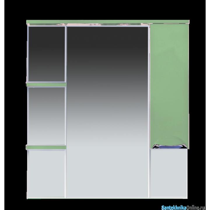 Зеркало-шкаф Misty Кристи 90 R салатовый П-Кри02090-071СвП