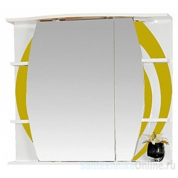 Зеркало-шкаф Misty Каролина 70 R желтый П-Крл02070-315СвП