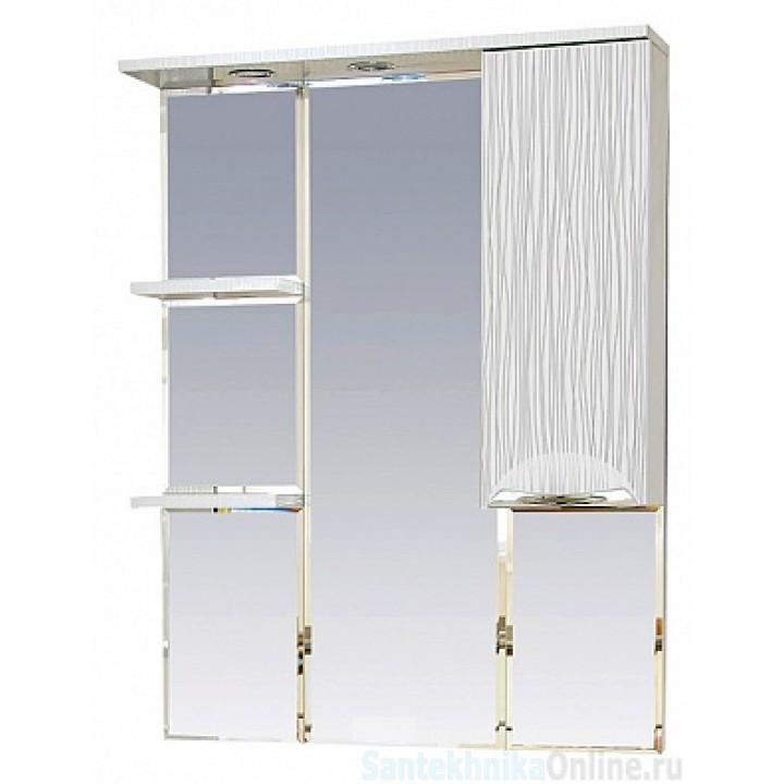 Зеркало-шкаф Misty Лорд - 85 зеркало-шкаф (свет) прав.(белая пленка ) П-Лрд04085-012СвП
