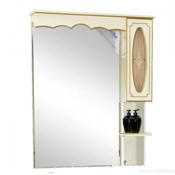 Зеркало-шкаф Misty Монако 80 R белый Л-Мнк02080-013П