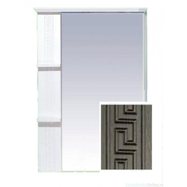 Зеркало-шкаф Misty Олимпия - 75 Зеркало комб.венге/белый левое П-Оли02075-252Л