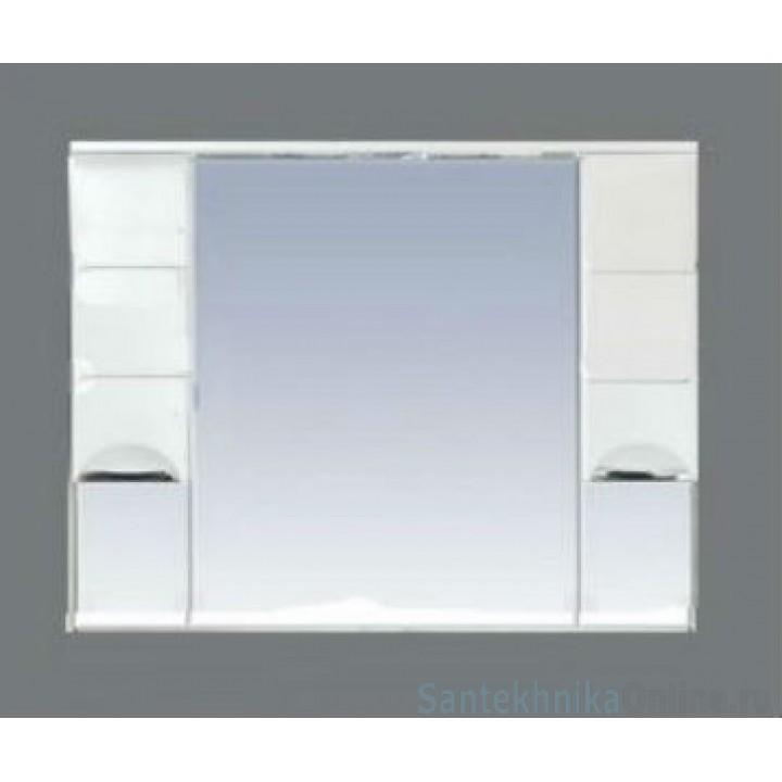 Зеркало-шкаф Misty Петра 105 белый П-Пет04105-011Св