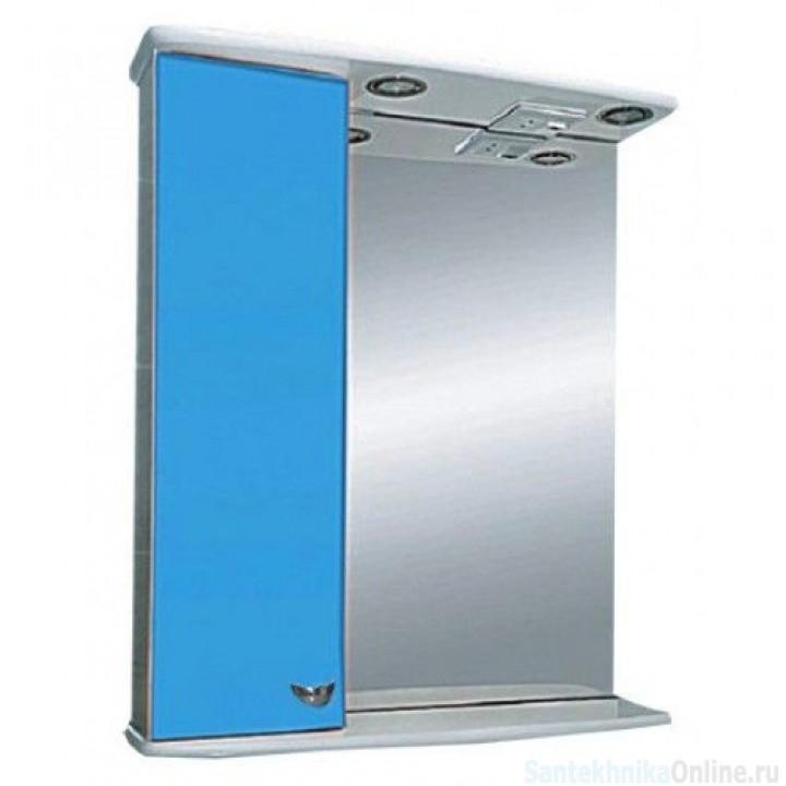 Зеркало-шкаф Misty Стиль 55 L голубой Э-Сти02055-06СвЛ