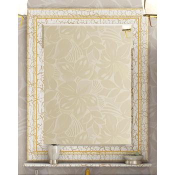 Зеркала Misty Fresko 90 краколет белый патина Л-Фре03090-0117