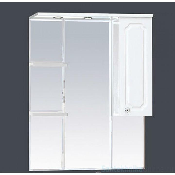 Зеркало-шкаф Misty Александра - 75 зеркало-шкаф прав. (свет) ВЕНГЕ П-Але04075-352СвП