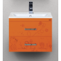 Тумба под раковину Misty Kitty 50 с 2-мя ящиками апельсиновый фреш Л-Кит01050-13П2Я