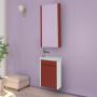 Зеркало-шкаф Misty Мини -40 Зеркало-шкаф красное П-Мин04040-041