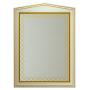Зеркала Misty Ницца 70 белое патина Л-Ниц02070-013