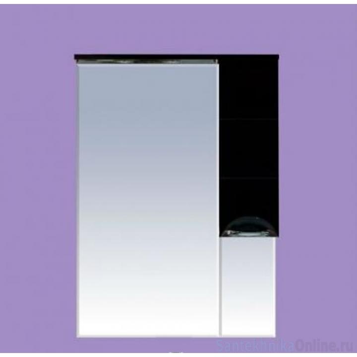 Зеркало-шкаф Misty Петра 65 R черный П-Пет04065-021СвП