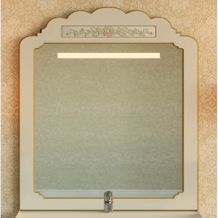 Зеркала Misty Milano 90 бежевое патина/декор Л-Мил02090-033