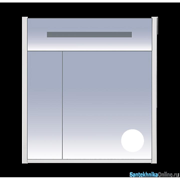Зеркало-шкаф Misty Джулия 75 белый Л-Джу04075-0110