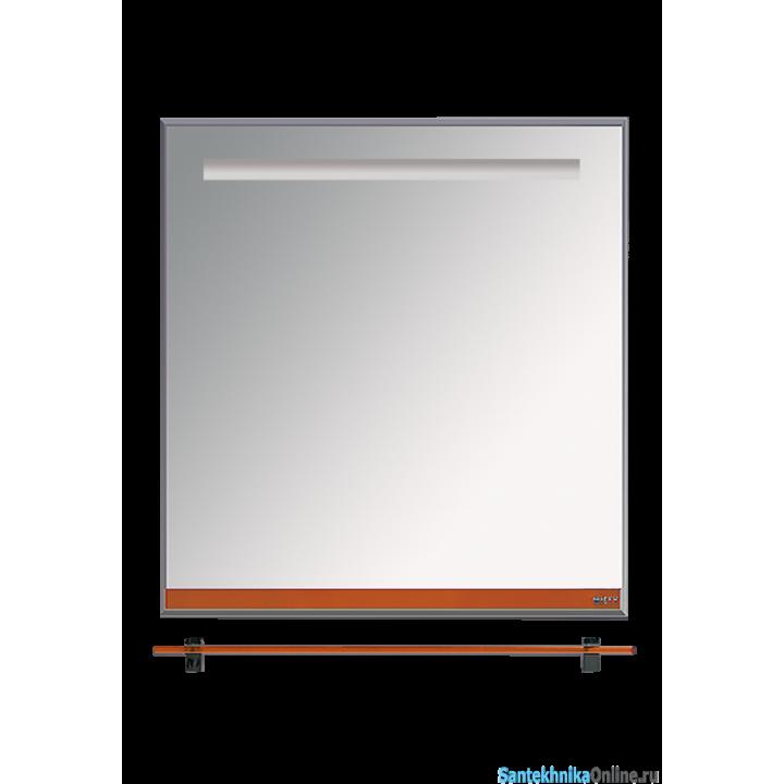 Зеркала Misty Джулия - 75 Зеркало с полочкой 12 мм оранжевое Л-Джу03075-1310