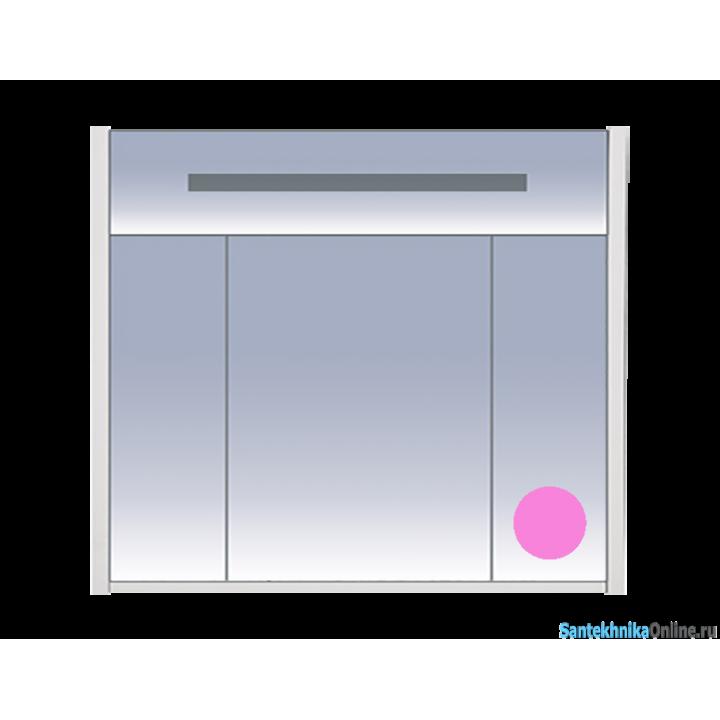 Зеркало-шкаф Misty Джулия 90 розовый Л-Джу04090-1210
