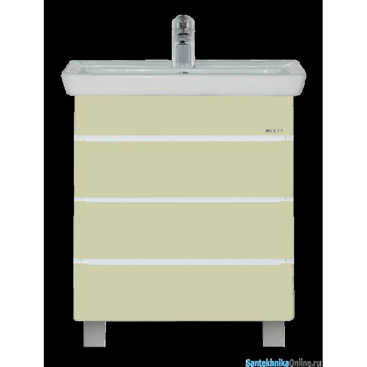 Тумба под раковину Misty Прима 60 R с 3-мя ящиками бежевая эмаль П-При01060-031Д3Я