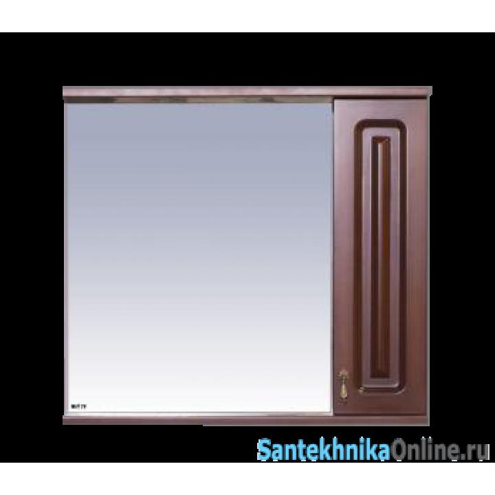 Зеркала Misty Вояж - 80 Зеркало - шк. прав.коричневый П-Воя02080-141П